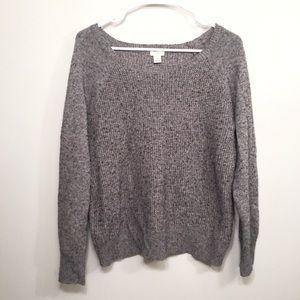 J. CREW Grey Cozy Knit Wool Sweater Size XL